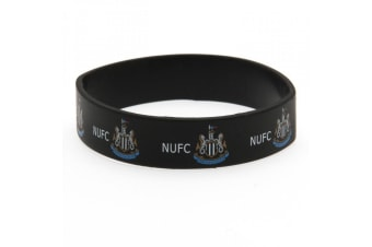 Newcastle United FC Official Silicone Wristband (Black) (One Size)
