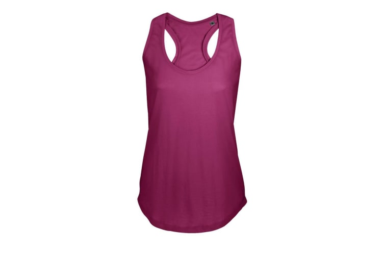 SOLS Womens/Ladies Moka Plain Sleeveless Tank Top (Raspberry) (L)