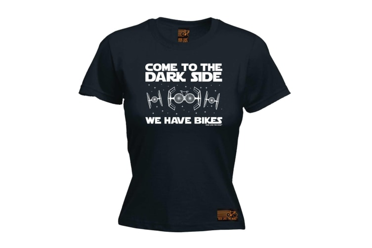 Ride Like The Wind Cycling Tee - Come To Dark Side Bikes - (Large Black Womens T Shirt)