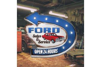 Ford Service Light-Up Mountable Tin Sign