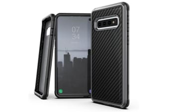 X-Doria Defense Lux Case Cover Protect f/ Samsung Galaxy S10+ Plus Carbon Fiber