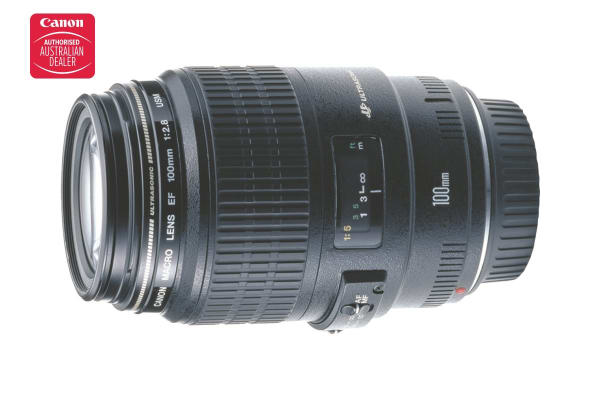 Canon EF 100mm f/2.8 Macro USM Lens with 58mm Diameter to suit Lens Hood ET-67 (EF10028U)