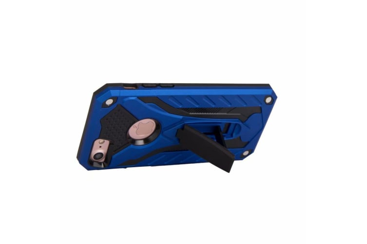 For iPhone 8 & 7 Case  Armour Strong Shockproof Tough Cover with Kickstand  Blue