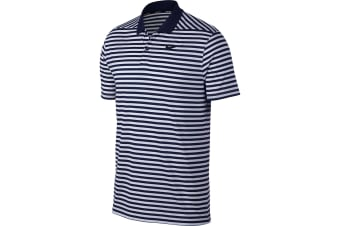 Nike Mens Victory Polo Stripe Shirt (College Navy/White/Black)