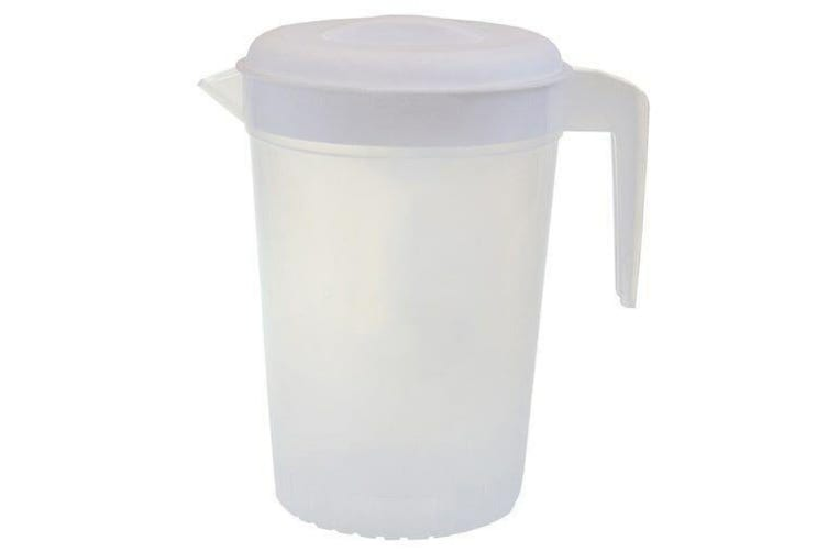 3 pcs Plastic Water Jug Set with White Lid 2L Water Pitcher For Fridge BPA FREE