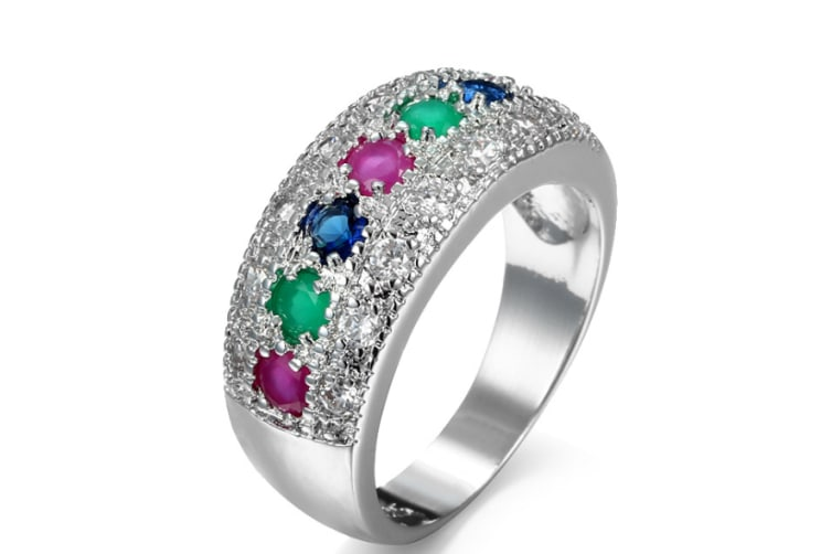 Rhinestone Crystal Zircon Tin Alloy Fashion Ring   6
