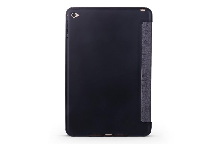For iPad mini 5 (2019) Case Folio PU Leather+TPU 3-fold Holder Cover Funny Face