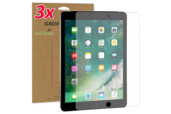 "[3 Pack] Apple iPad 9.7"" Ultra Clear Film Screen Protector by MEZON – Face ID Compatible, Case and Pencil Friendly (iPad 9.7"", Clear)"