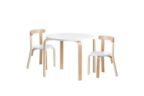 Artiss Kids Table and Chair Set Study Desk Dining Wooden Furniture Children