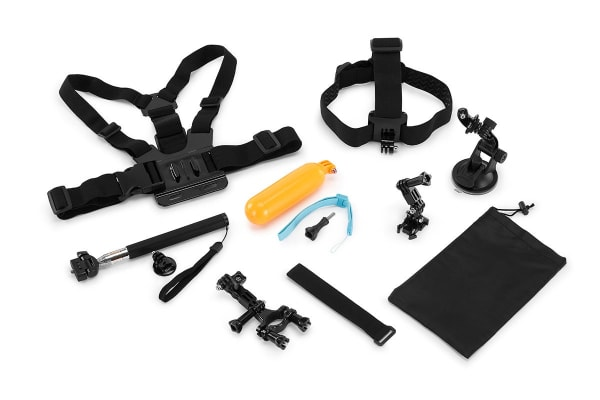 9 Piece GoPro Compatible Accessory Kit