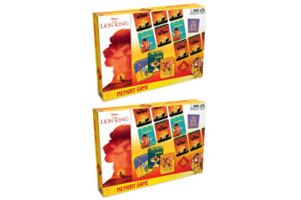 2x 36pc Lion King Memory Card Matching Game Educational Toy 2-4 Players Kids 3y+