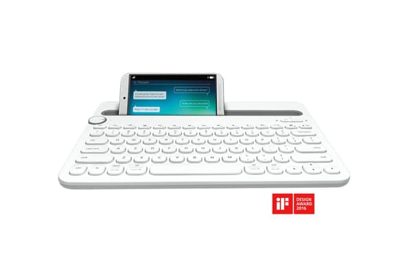 Logitech K480 Bluetooth Multi Device Keyboard - White (920-006381)