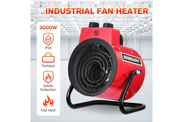 3000W Electric Fan Heater Portable Space Heater Fast Heating Home Office Garage
