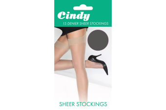 Cindy Womens/Ladies 15 Denier Sheer Stockings (1 Pair) (Storm Grey)