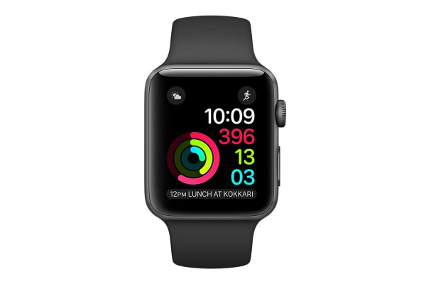 Apple Watch Series 2 (Space Grey, Aluminium, 38mm, Sports Black)