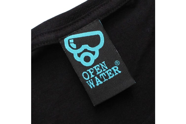 Open Water Scuba Diving Tee - Dont Eat The Thing - (Large Black Womens T Shirt)