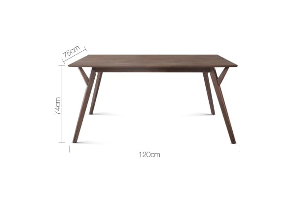 4 Seater Wood Timber Dining Table (Walnut)