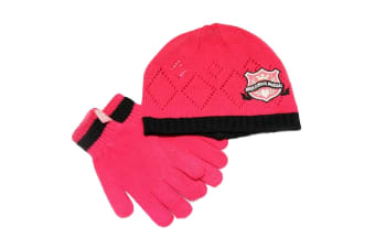 Childrens/Kids Girls High School Musical Hat And Gloves Set (Pink) (Pink) (4-8 years)