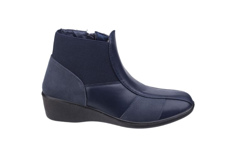 Fleet & Foster Womens/Ladies Festa Ankle Boots (Navy) (5 UK)