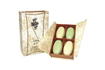 Clover Fields Gift Box Olive & Fig Soap x 4 Pack