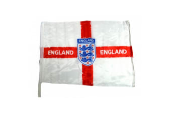 England Official Football Distressed Crest Car Flag (White/Red/Blue)