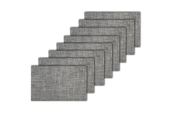 8pc Maxwell & Williams Crosshatch Placemat 45x30cm Dining Place Table Mat Grey