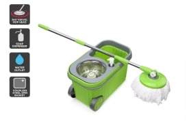 Magic 360° Spin Mop with Roller Bucket and 5 Mop Heads