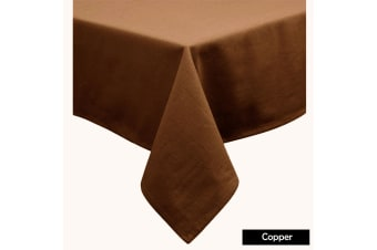 Cotton Blend Table Cloth Copper 170x420cm