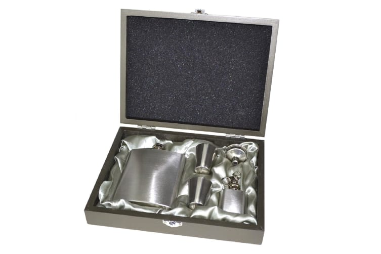 Hip Flask Gift Boxed Set Stainless Steel