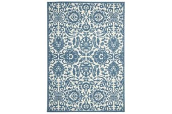 Funky Lace Design Blue Rug
