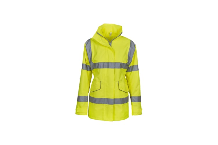 Yoko Womens/Ladies Hi-Vis Executive Jacket (Yellow) (L)