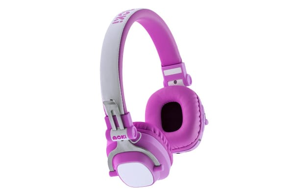 Moki EXO Kids Bluetooth Wireless Over Ear Headphones - Pink (ACCHPEXKP)