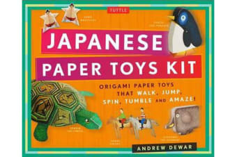 Japanese Paper Toys Kit - Origami Paper Toys that Walk, Jump, Spin, Tumble and Amaze!