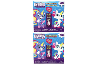 2x 48pc Fingerlings Mystery Jigsaw Puzzle Game Kids/Child 3y+ Toys w/ WHT Figure