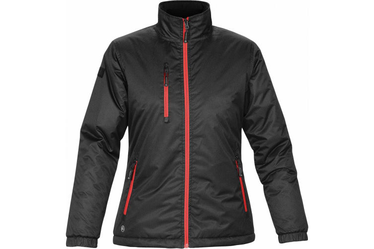 Stormtech Ladies/Womens Axis Water Resistant Jacket (Black/Sport Red) (S)