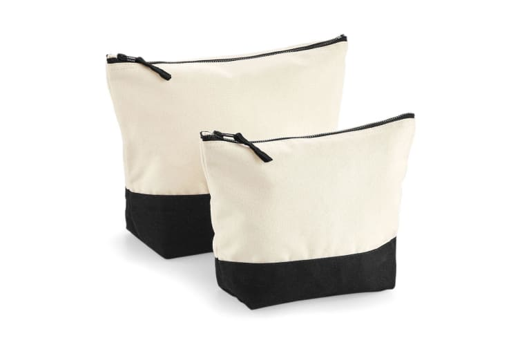 Westford Mill Dipped Base Canvas Accessory Bag (Natural/Black) (L)