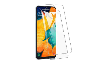 Full Cover Tempered Glass Screen Protector For Galaxy A50-Clear
