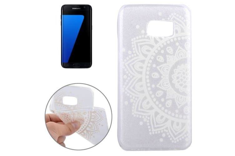 huge discount d2f48 8b758 For Samsung Galaxy S7 EDGE Case Modern Half-Flower Transparent Shielding  Cover