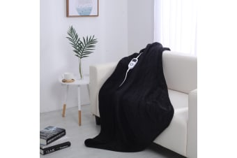 Dreamaker Electric Heated Throw Blanket - Black