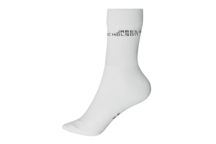 James And Nicholson Unisex Bio Socks (1 Pair) (White) (8-9.5 UK)