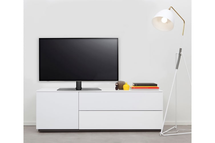 """Kogan Swivel Tabletop Stand with Glass Base for 32"""" - 70"""" TVs"""