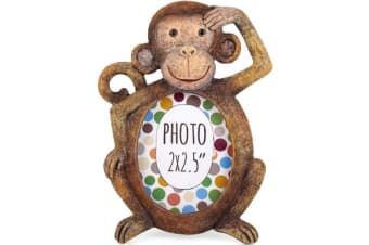 Something Different Monkey Photo Frame (Brown)