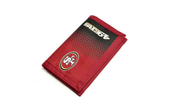 San Francisco 49ers Official NFL Fade Design Wallet (Red) (One Size)