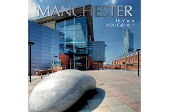 Manchester 2020 Premium Square Britain Wall Calendar 16 Month New Year Christmas