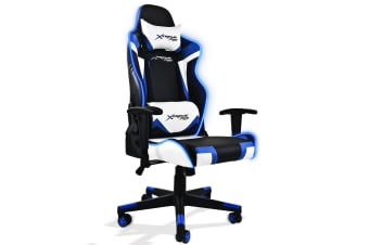Xtreme Racing Gaming Office Chair LED Seat RGB PU Leather Computer Executive A