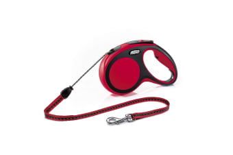 Flexi Comfort Dog Lead (Red) (Small (Cord) - 5m)