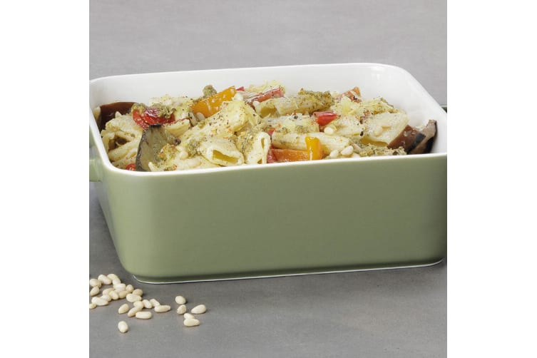 2PK Maxwell & Williams Epicurious 24cm Square Baker Baking Dish w  Handles Olive