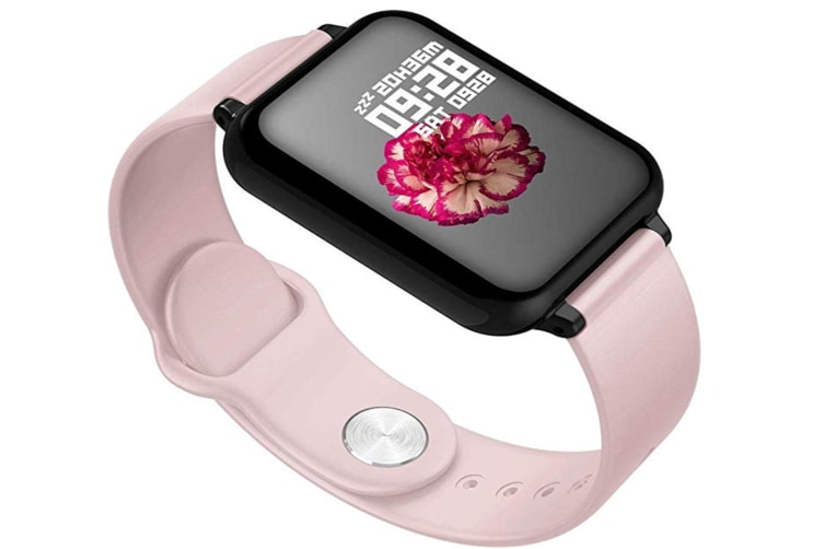 B57 Color Screen Smart Watch Heart Rate Blood Pressure oximeter Step Motion Call Reminder Waterproof Bluetooth Watch - Pink