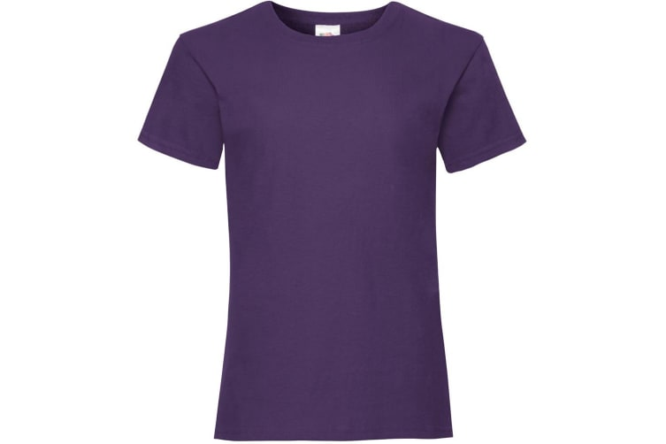 Fruit Of The Loom Girls Childrens Valueweight Short Sleeve T-Shirt (Purple) (3-4)