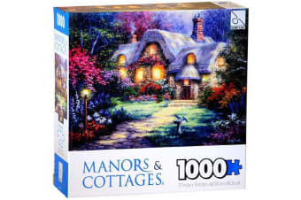 Manor & Cottage 1000 Piece Puzzle - Garden Cottage